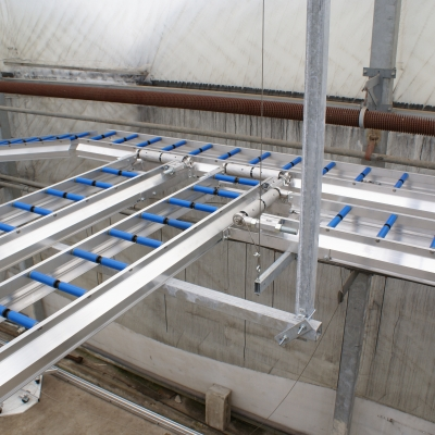 Installation picture of a intersection of Conveyors