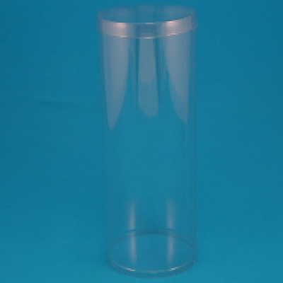 Transparent tubes for packaging bottles or circular stackables