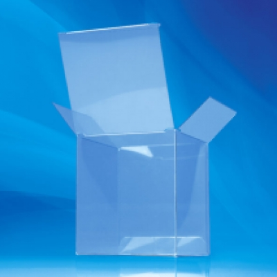 Clear folding box back view