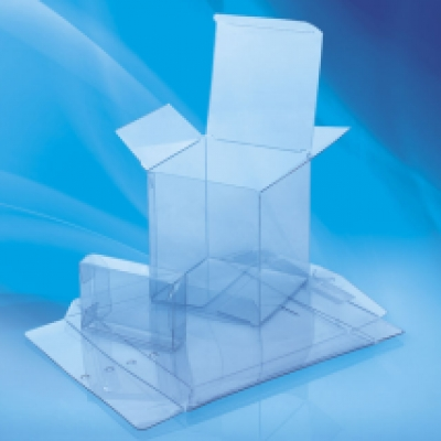 Visual impact with see-through packaging in clear packaging box
