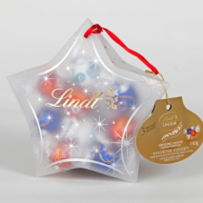 Frosted, printed and decorated opaque candy packaging