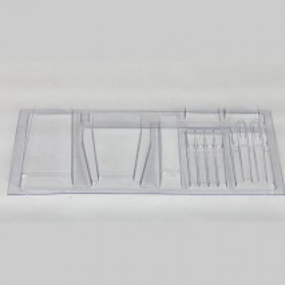 Clear plastic thermoform tray