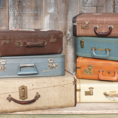 Vintage Suitcases; Various Sizes and Colours