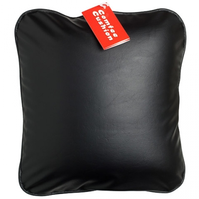 Comfee Cushion - Black Pleather