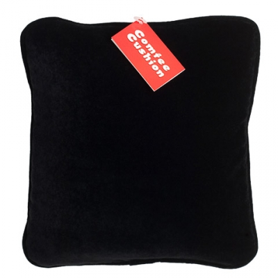 Comfee Cushion - Black Velvetine
