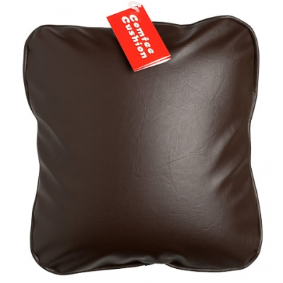 Comfee Cushion - Brown Pleather