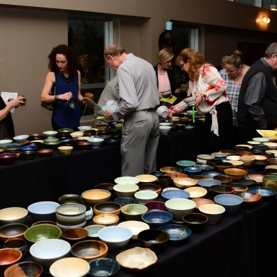 Guests Select Their Bowls
