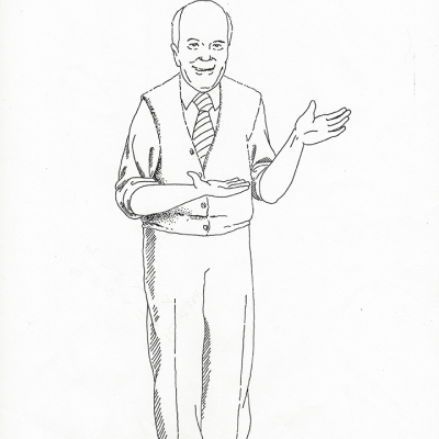 Grandpa Gemmell Drawing