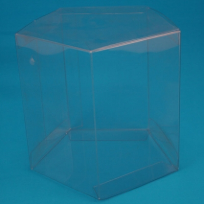 Hexagon shaped clear pet pvc apet or pp box