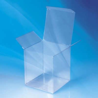 Standard cube shaped transparent pvc packaging