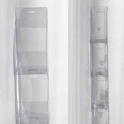 Hanging point of purchase transparent plastic display