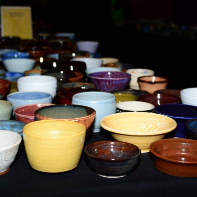 Handmade Pottery Bowls Donated by Local Potter