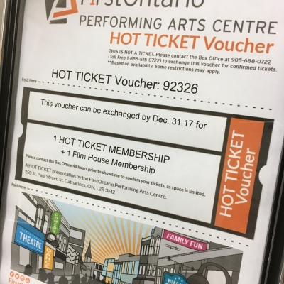 FirstOntario PAC Hot Ticket & Film House Memberships
