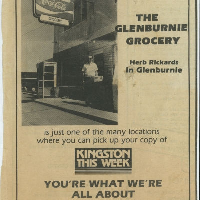 A Kingston This Week ad featuring Herb and our storefront.