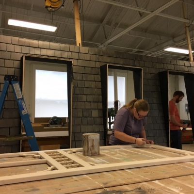 Brock Dart Students constructing the Set of Lunenburg 2017