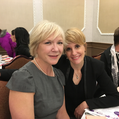 AD Patricia Vanstone and ED Emily Oriold at the awards 2017
