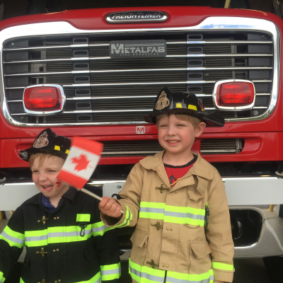 Jacob & Nicholas helping out during Canada Day Celebrations