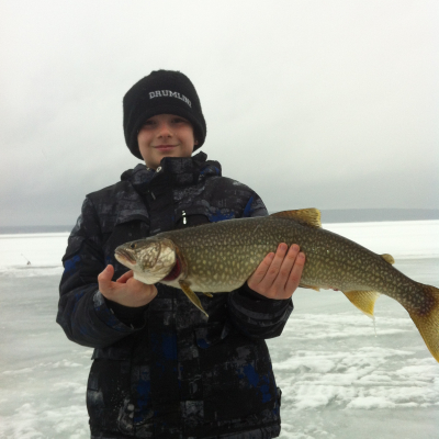 Lake Bernard, Winter Ice-Fishing Fun