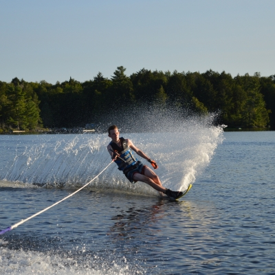 Nathan during HOC's Overnight Water Ski Program
