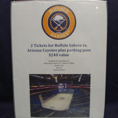 2 Tickets to Buffalo Sabres Game with Parking