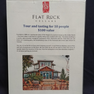 Tour & Tasting for 10 People at Flat Rock Cellars