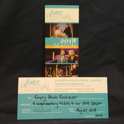 4 Tickets to a Foster Festival Peformance