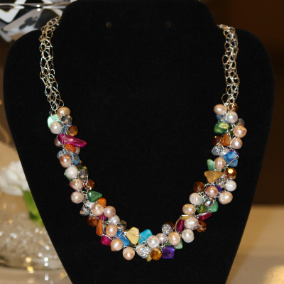 Handmade Necklace by Sheila Wong of Wired Chic