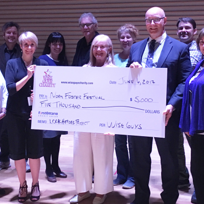 Wise Guys Cheque Presentation, 2017 Local Hero Program
