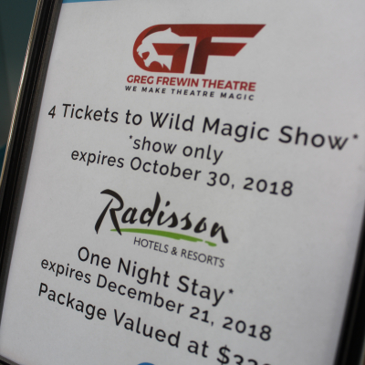4 Tickets to Greg Frewin Wild Magic Show & One Night at Radisson