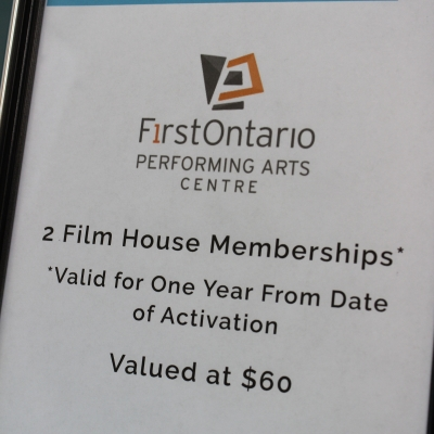 Film House Memberships, FirstOntario PAC
