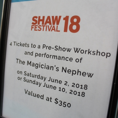 Shaw Festival Tickets to The Magician's Nephew