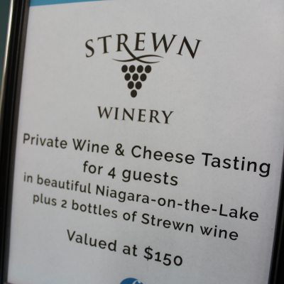 Strewn Private Wine & Cheese Tasting