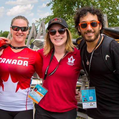 participants at the 2018 Canoe Polo Worlds