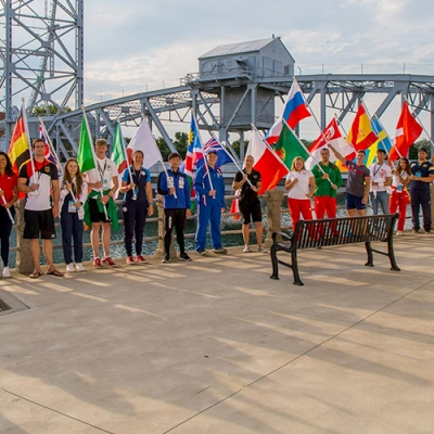 image of participants at the 2018 World Canoe Polo Championships