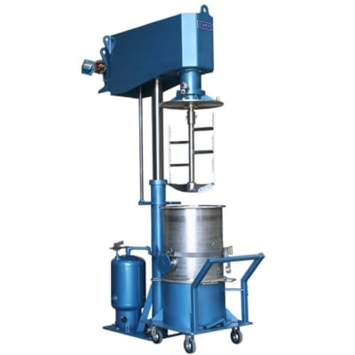 Concentric Shaft Mixer Floor-Mounted with Lift