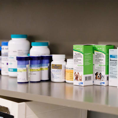 Dispensary at Highway 2 Veterinary Office