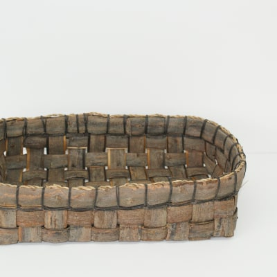 Square willow bark container