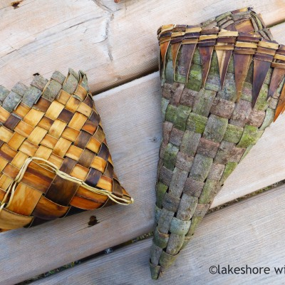 Willow bark pouch and cone