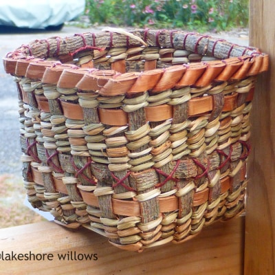 Willow and cedar bark container