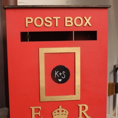 English Postbox Money Box