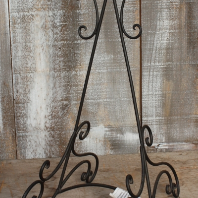 wrought iron easel